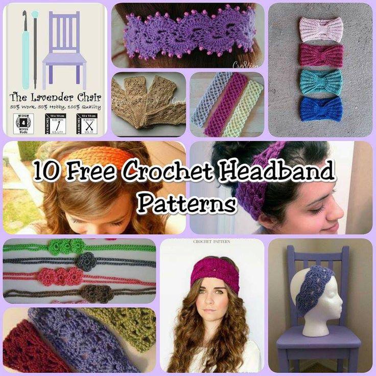 10 Free Crochet Head Band Patterns, #haken, gratis patroon (Engels), 10x, haarband