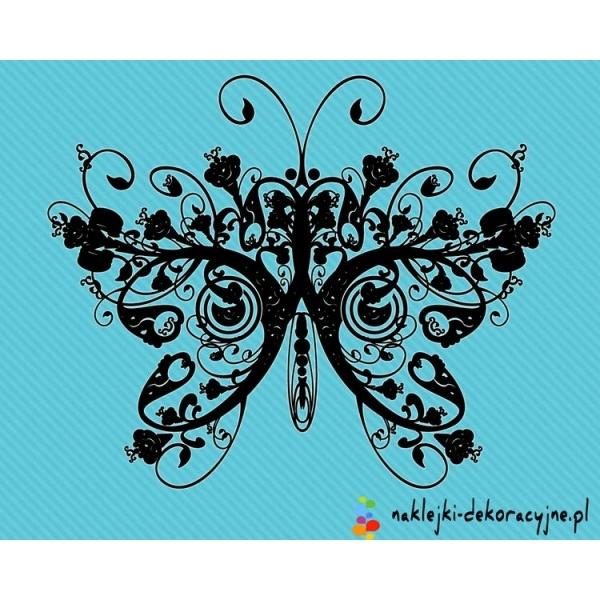Abstrakcyjny wzór motylka – w promocji od 12.99zł – Zobacz nasze abstrakcyjne, piękne wzory naklejek dekoracyjnych na ściany, samochód, okna.