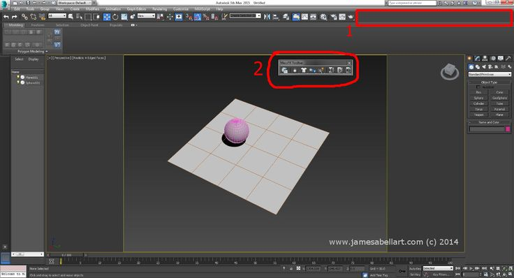 To show the useful #MassFX toolbar in #3dsMax.  1.Right click in the toolbar area. 2. Select Mass FX. The floating toolbar will appear.