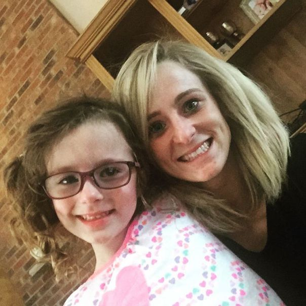 Leah Messer with her daughter