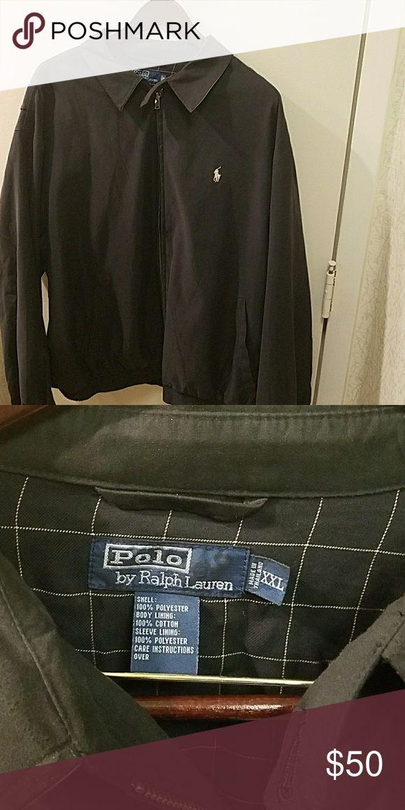 Men's Black Polo Jacket Black Men's Polo jacket, size XXL Polo by Ralph Lauren Jackets & Coats Lightweight & Shirt Jackets