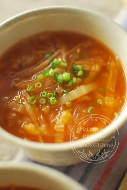 スープに白菜は、冬の定番