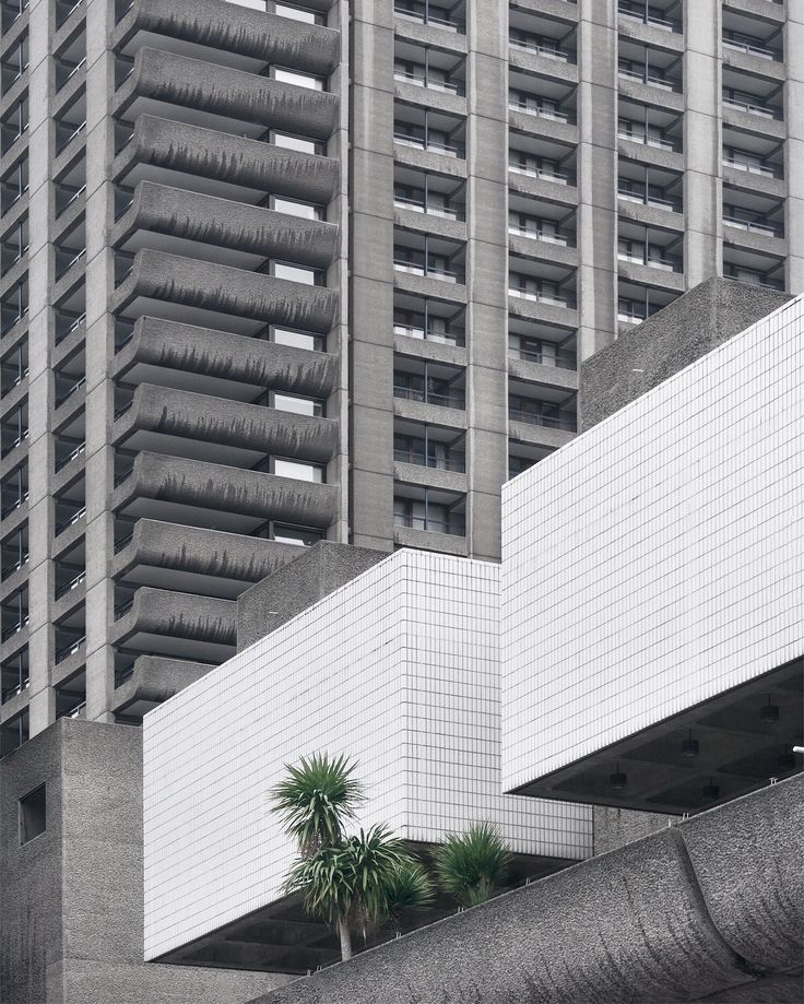 Barbican Center by Minorstep. Architecture, brutalism and plants
