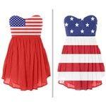American flag dress.