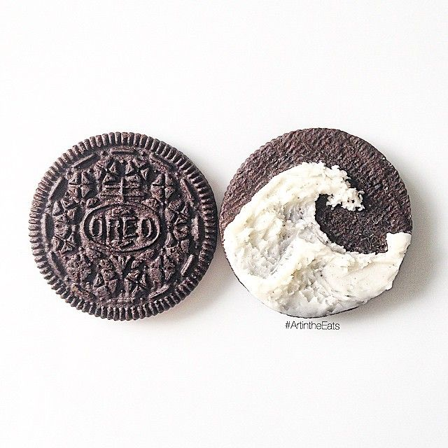 Here's an @oreo to celebrate World Oceans Day! the Ocean is the heart of our planet. #OreoArt #ArtintheEats #ArtFido # #WorldOceansDay #kanagawa #hokusai #Art_spotlight #Arts_help: