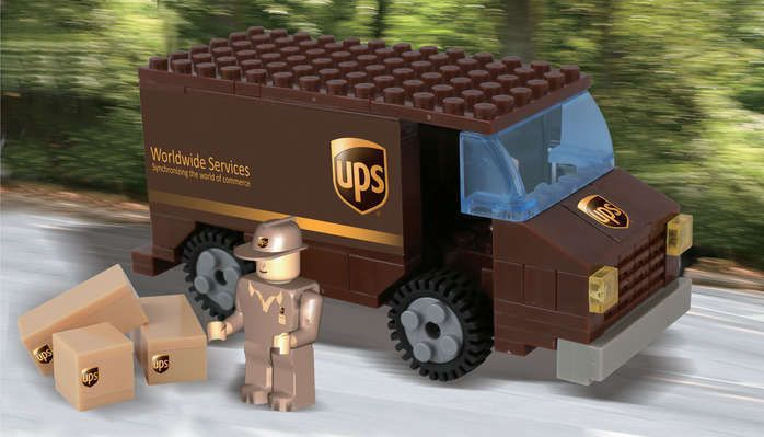 Construction Toy BL99977 UPS United Parcel Service Truck  111 pc Brick Toy New #BestLock