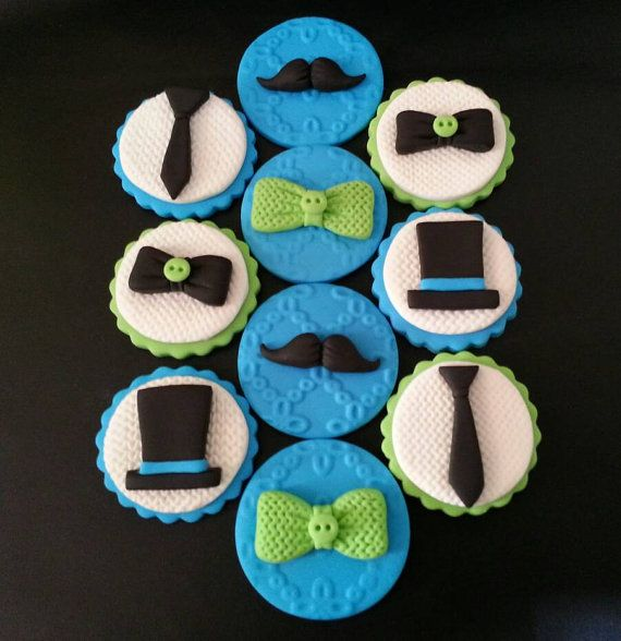 Check out this item in my Etsy shop https://www.etsy.com/listing/473653775/10-fondant-little-man-cupcake-toppers