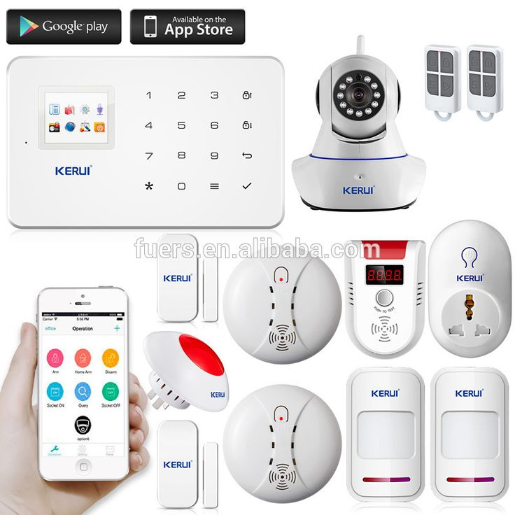 2016 hot KERUI alarm G18 with wireless motion sensor wifi gsm gprs home security alarm system