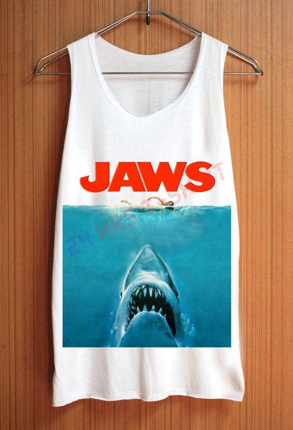 """JAWS shark attack"" tee"