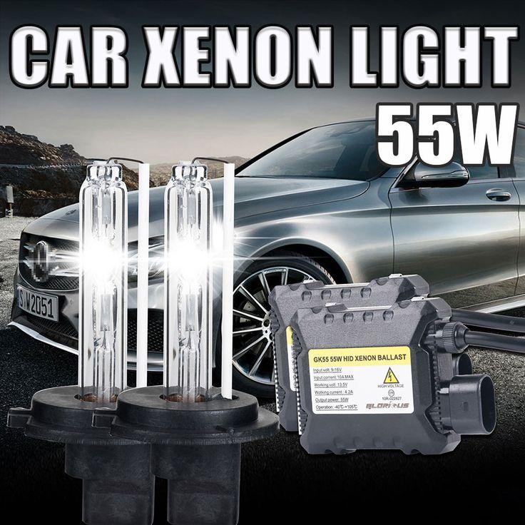 1 Set H7 Xenon HID Kit Slim Ballast 55 W H7 Tunggal Beam Xenon Bulb 6000 K 8000 k 10000 k Keren Putih Mobil Headlight hid kit h7 55 w