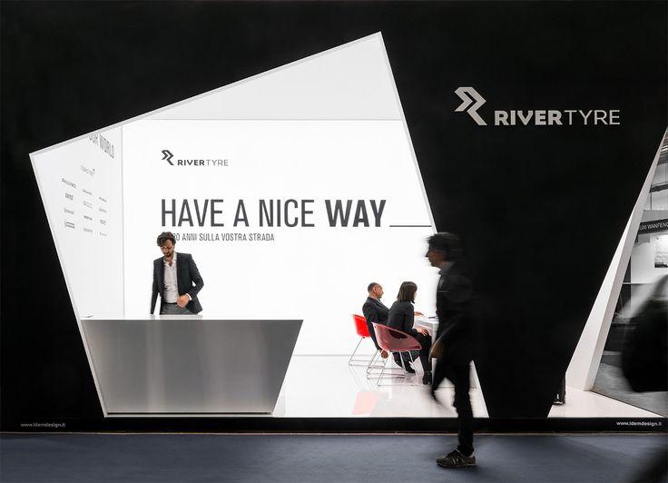 River Tyre // Progetto e realizzazione dell'allestimento fieristico per l'azienda leader distributrice di pneumatici River Tyre, all'Autopromotec 2015 di Bologna. #exhibit #design #stand  // more on www.idemdesign.it