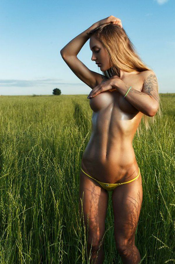Naked outdoor girls performed