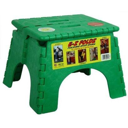 B u0026 R Plastics 1016G E-Z Foldz Green Step Stool  sc 1 st  Pinterest & Best 25+ Plastic step stool ideas on Pinterest | 3 step stool ... islam-shia.org