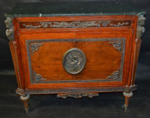 A Louis XIV Style Tulipwood and Ormolu Chest