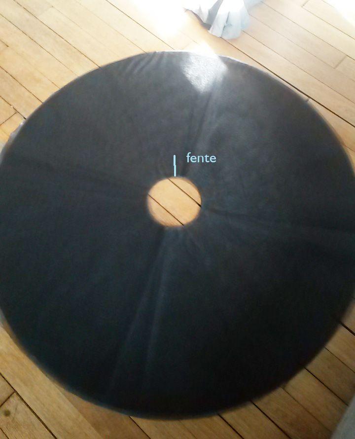 Tuto & calculs pour faire un tutu en tulle & satin (fournitures: 6m tulle, 1.2 m satin, 15cm coton)