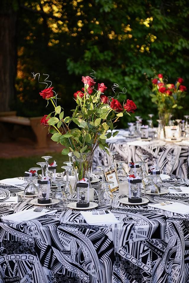 Attention Northern California brides! Have you picked your venue yet? If not Monte Verde Inn is one you won't want to miss! Check out how stunning their property is!! Love the specialty table linens in black and white with that print!