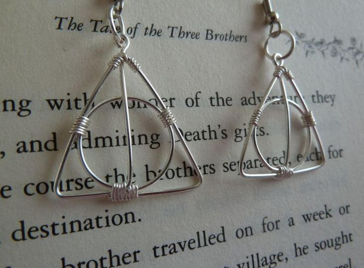 Calling all Harry Potter fans! Remember The Tale of the Three Brothers? These Deathly Hallows DIY Earrings are a summary of the story in all their wire glory.