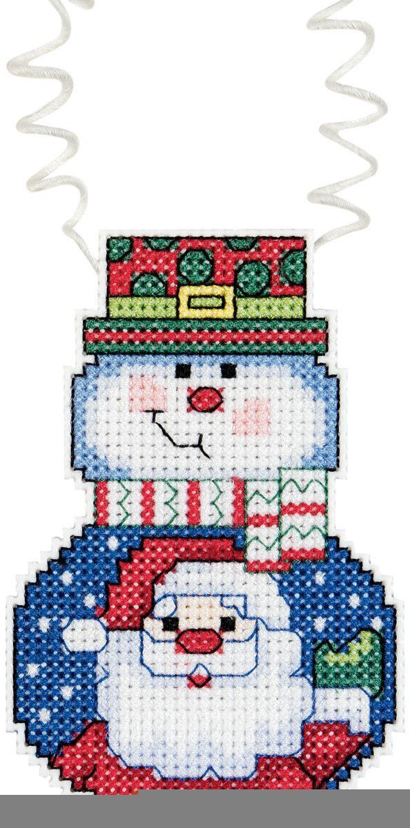 JANLYNN-Wizzers Ornaments. Whimsical ornaments to brighten up your Christmas tree. Quick and easy mini kits are great for quick gifts or weekend projects. Each kit contains: 14 count plastic canvas, 6