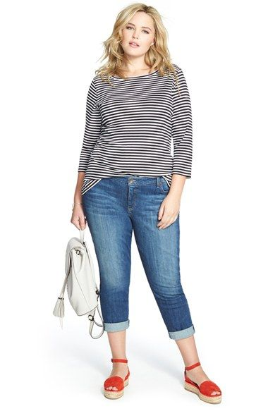 Sejour Tee & KUT from the Kloth Jeans (Plus Size)