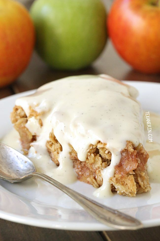 Swedish Apple Pie (gluten-free, vegan, whole grain, and dairy-free – please click through to the recipe to see the dietary-friendly options!) With a video.