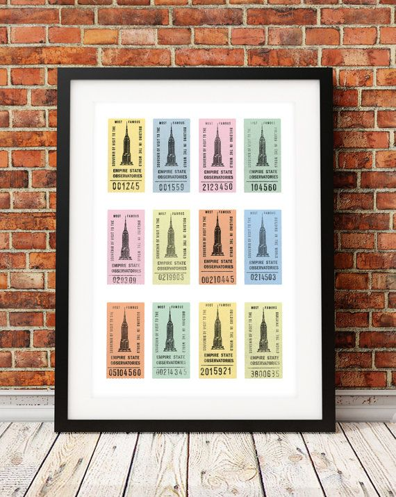 New York art print Empire State Building print by TheIndoorType, £13.99