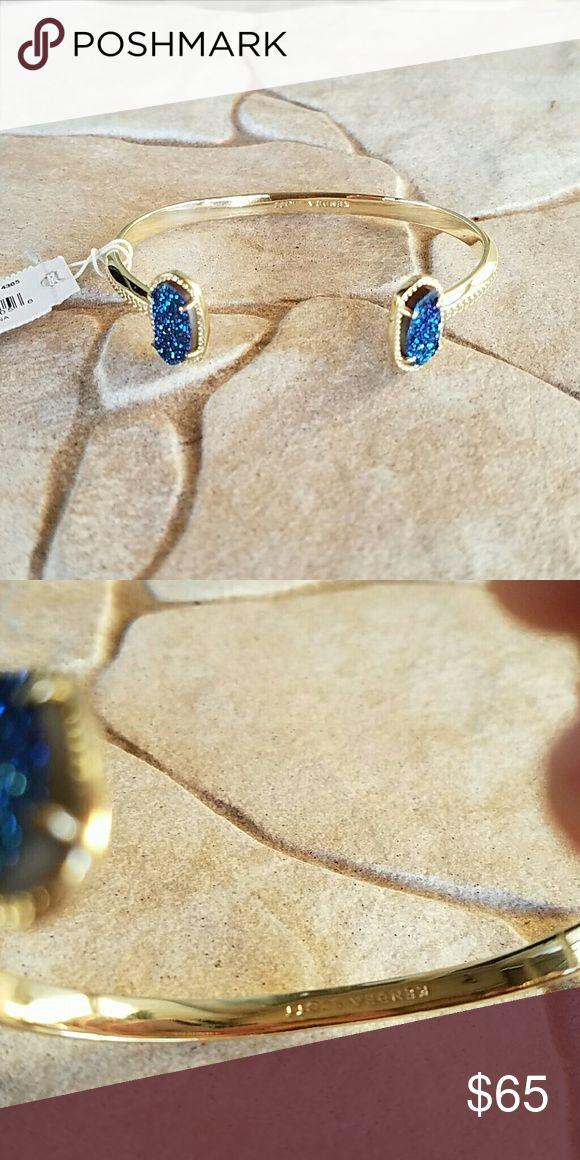 Kendra Scott jewelry gold bracelet royal blue Royal blue and gold bracelet from Kendra Scott Jewelry Kendra Scott Jewelry Jewelry Bracelets