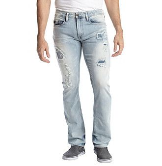 Buffalo by David Bitton Men's Six Rip And Repair Jeans