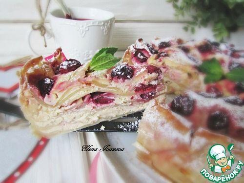 Творожно-ягодный ленивый пирог - кулинарный рецепт
