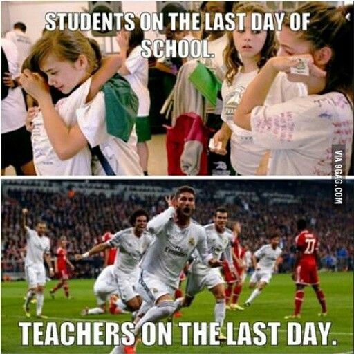 A lil late on this one but #teachers vs #students on the last day of #school