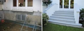 New construction of a garden staircase of a city v…