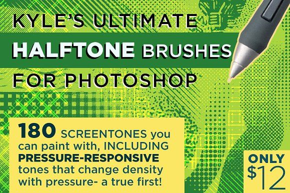 Kyle's HALFTONE Brushes 4 Photoshop! by Kyle's Pro Design Tools  on @creativemarket