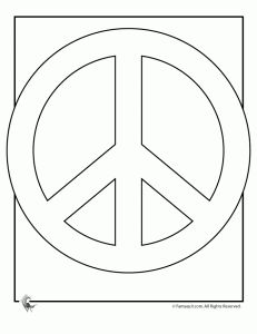 free peace sign coloring pages for kids - Google Search