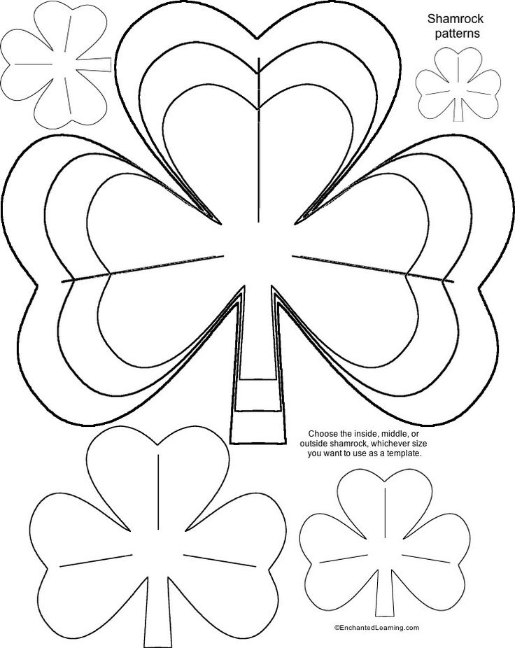 Best Shamrocks Images On   Shamrock Template St