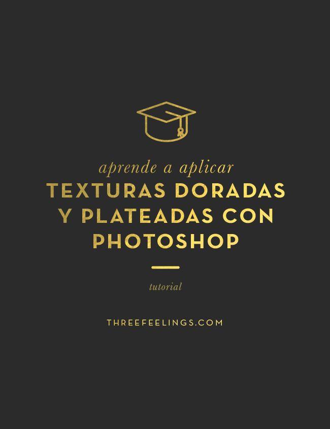 Aprende a utilizar las texturas doradas y plateadas sobre textos y lettering en Photoshop con este tutorial tan fácil.