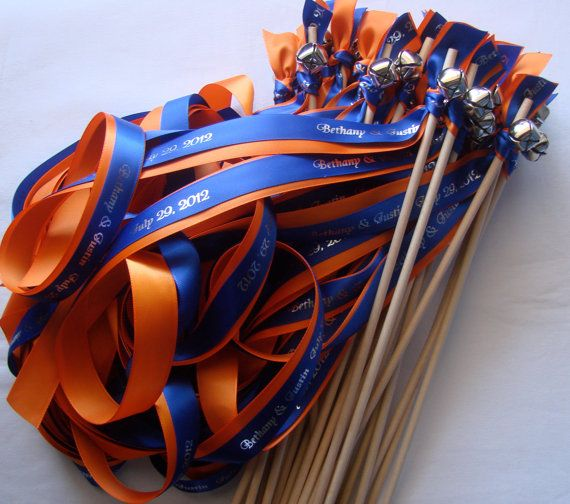 ribbon wands! Great to be used for cheering the team.