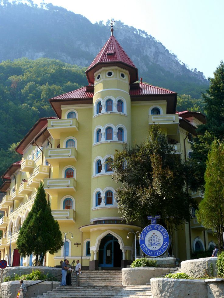 Cerna Hotel in Băile Herculane, the oldest spa-town in Romania.
