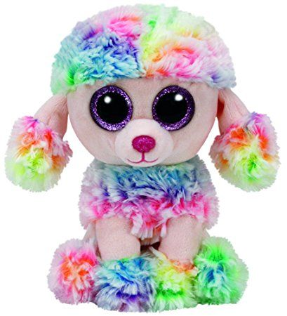 Rainbow the multi color poodle - TY Beanie Boo