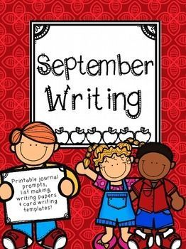 Jump into writing as you head back to school with this September Printable Journal and writing prompt! Get your students thinking about how to write narrative, explanatory\ expository and opinion writing right from the start with these fun prompts. Back to School | Writing Centers | Printable Journal