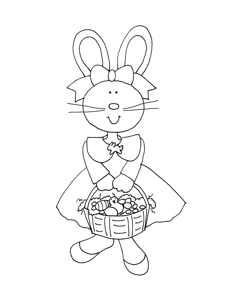 Free Dearie Dolls Digi Stamps As Requested Bunny In Dress
