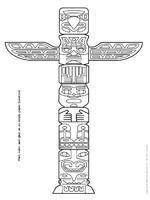 tlingit totem poles coloring pages - photo#37