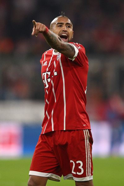 Arturo Vidal of Bayern Muenchen during the Bundesliga match between FC Bayern Muenchen and FC Augsburg at Allianz Arena on November 18, 2017 in Munich, Germany. - 77 of 204