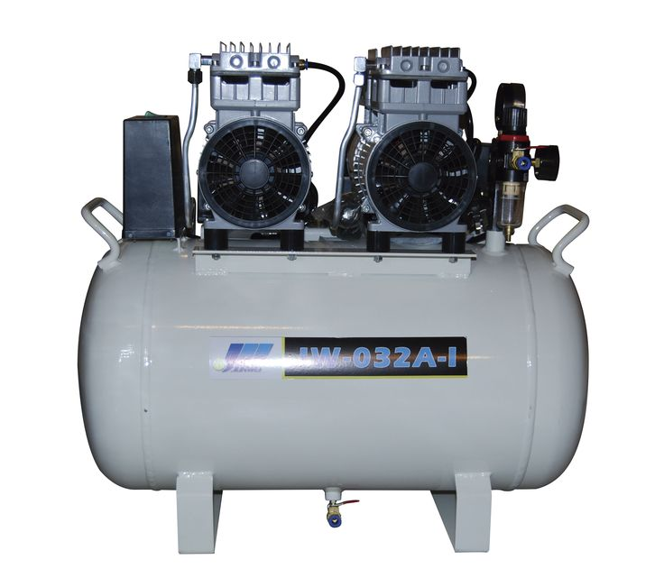 Compresor JunWei 2.20HP JW-032A-I                2.20HP 1700W  Flujo aire:220L xMin                  MaxPresion 0.8Mpa   Presion Arranque 0.5Mpa   1400RPM  Tanque: 55L horizontal                                                        Este modelo tiene dos cabezales en linea de 850W cada uno Cod. 8780