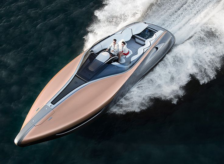 a brief for an open sport yacht for recreational day-touring with eight guests, powered by twin high-performance car V8s and with bespoke styling was handed to the LEXUS design center in japan.