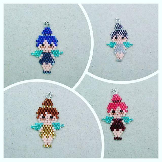 Quien dijo que las Hadas sólo son rubias? #hadas #peyote #hechoamano #aros #fairies #earrings #handmade