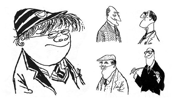 Ronald Searle caricatures