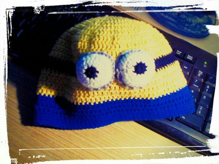 Minion crochet hat Háčkovaná čepice Mimoň