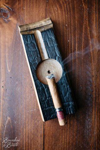 Bourbon Barrel Cigar Ashtray