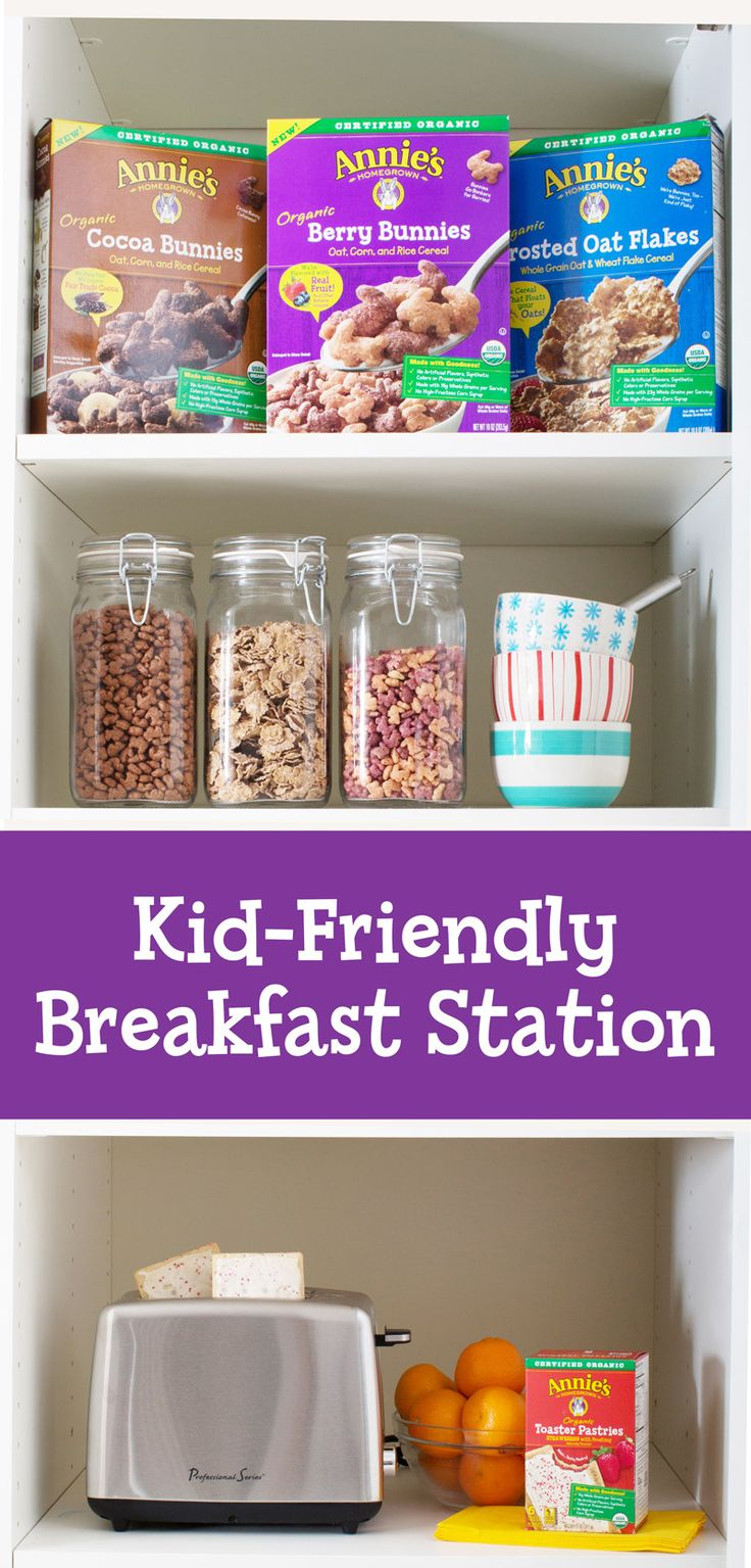 Build your kids a breakfast station that both of you can feel good about! Just stock the cabinet with a few of their favorites and turn your kitchen into a fun breakfast bar. We suggest starting with: Annie's Organic Cereals, fresh fruit, NEW Annie's Organic Toaster Pastries, a few bowls, and whatever else you fancy. Voila! Weekday mornings just got a whole lot hoppier.