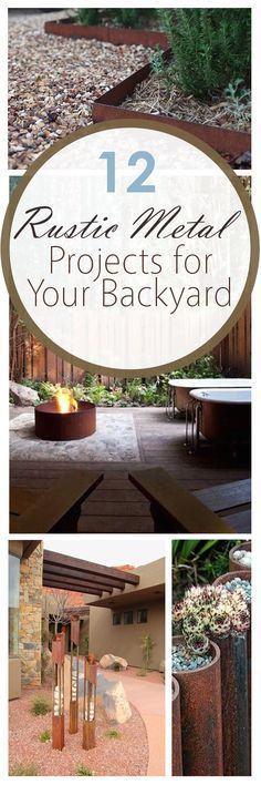 DIY yard projects, rusted metal yard projects, DIY rusted metal yard projects, popular pin, DIY backyard projects, lawn ornament ideas, garden edging.