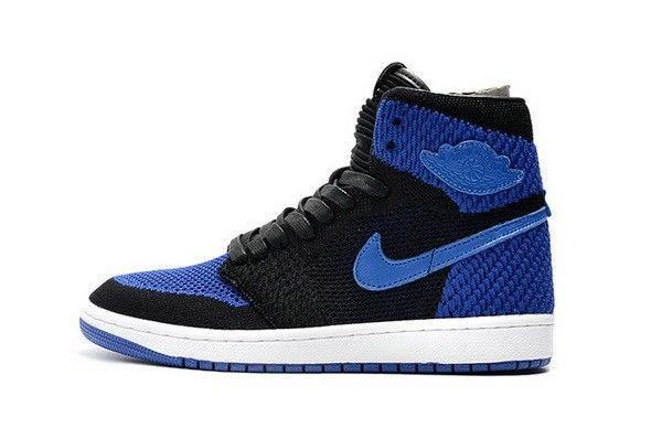 save off 7c40a e06af Nike Air Jordan 1 Retro High Flyknit Royal 919704-006 Nero GAME ROYAL-Bianca